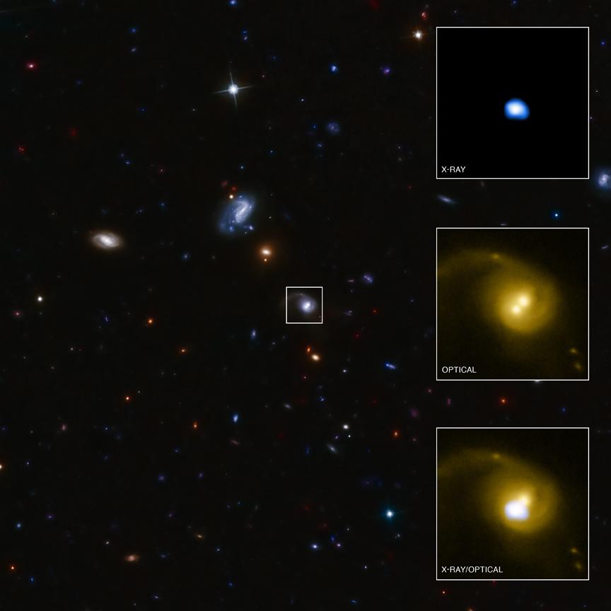 Credit: NASA/CXC/SAO/F. Civano et al./STScI/CFHT