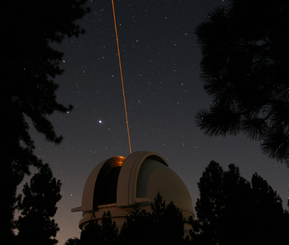 Credit: Caltech Astronomy; Photo of Palomar Observatory in California