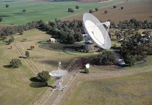 Parkes Radio Telescope. Photograph by John Sarkissian (CSIRO Parkes Observatory)