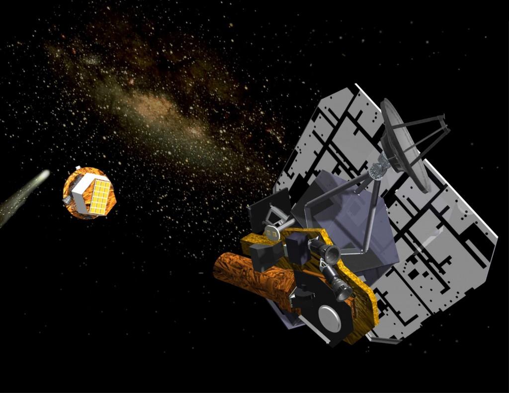 NASA's Deep Impact spacecraft; Credit: Ball Aerospace and Technologies Corp
