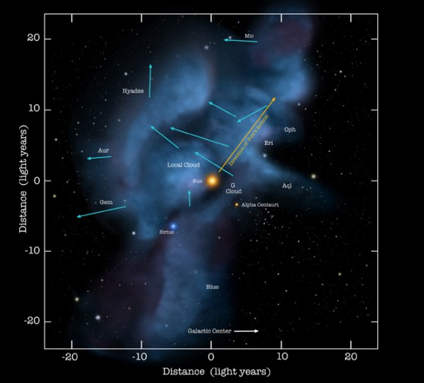 Interstellar gas clouds; Credit: NASA/Goddard/Adler/University of Chicago/Wesleyan University