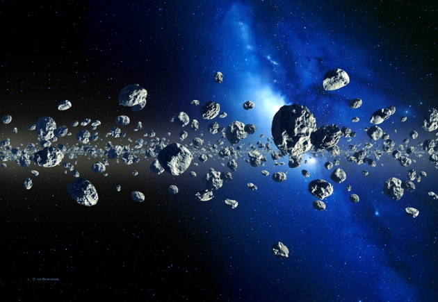 Artist impression of Kuiper belt; Credit: Detlev Van Ravenswaay/Science Photo Library